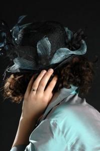Chapeaux de mariage noir